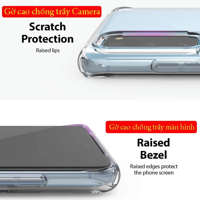 Ốp lưng Galaxy S20 Ringke Fusion trong suốt + viền mềm ( USA )