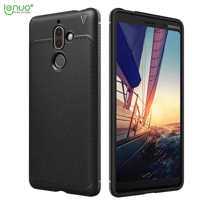 Ốp lưng Nokia 7 Plus Lenuo Leshen Serie vân da sang trọng