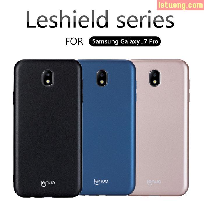Ốp lưng Galaxy J7 Pro Lenuo Leshield Case 360 siêu mỏng lưng mịn