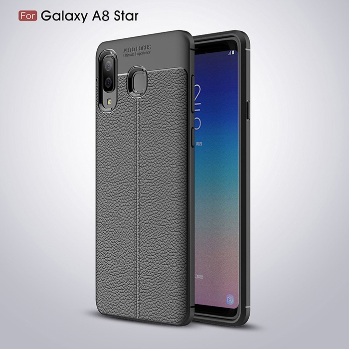 Ốp lưng Galaxy A8 Star LT Leather Design Case vân da - sang trọng