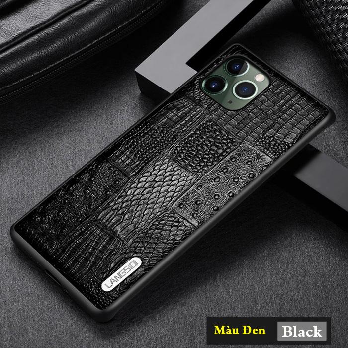 Ốp lưng iPhone 11 Pro Max Langsidi Leather Retro da thật
