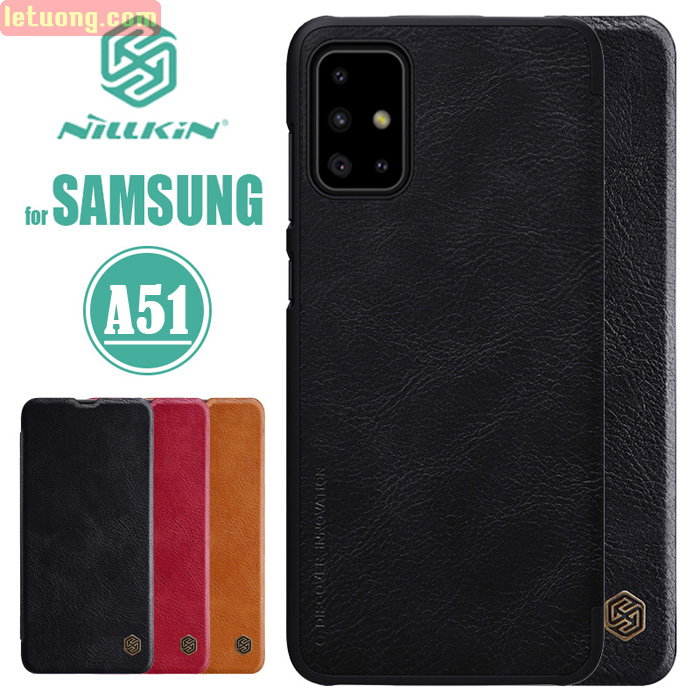 Bao da Galaxy A51 Nillkin Qin Leather sang trọng - cổ điển