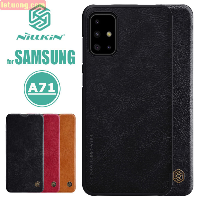 Bao da Galaxy A71 Nillkin Qin Leather sang trọng - cổ điển