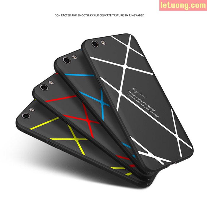 Ốp lưng Oppo F1S/F1S 2017 LT Case 360 siêu mỏng, kẻ chéo đẹp mắt