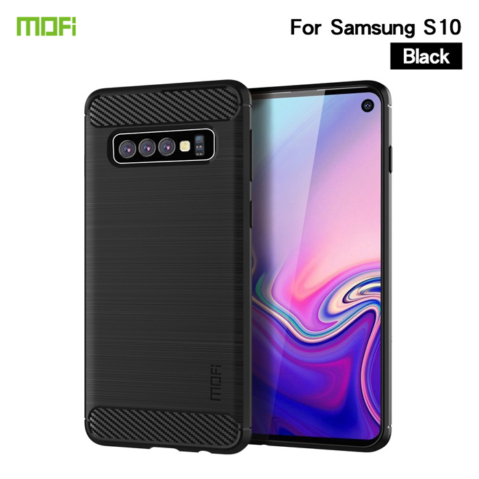 Ốp lưng Galaxy S10 Mofi Shen Du Carbon nhựa mềm - chống vân tay