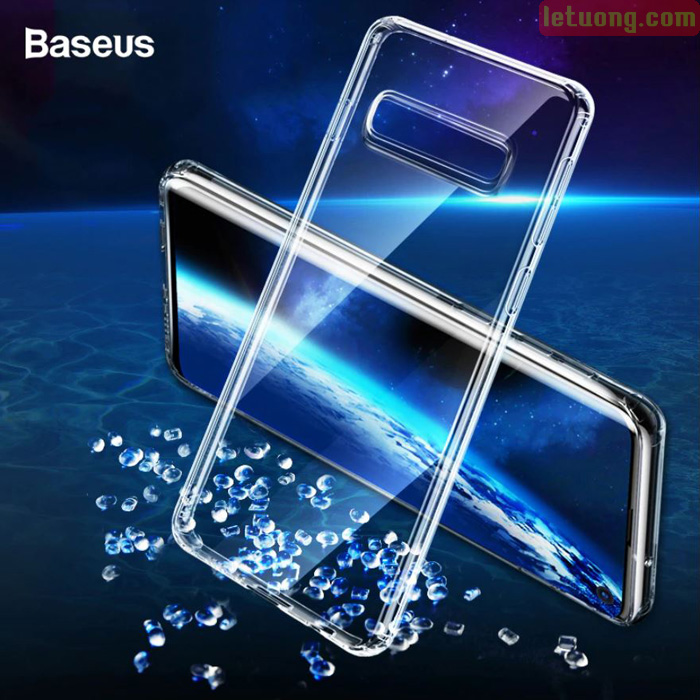 Ốp lưng Galaxy S10 Plus Baseus Simplicity Crystal trong suốt - mỏng gọn