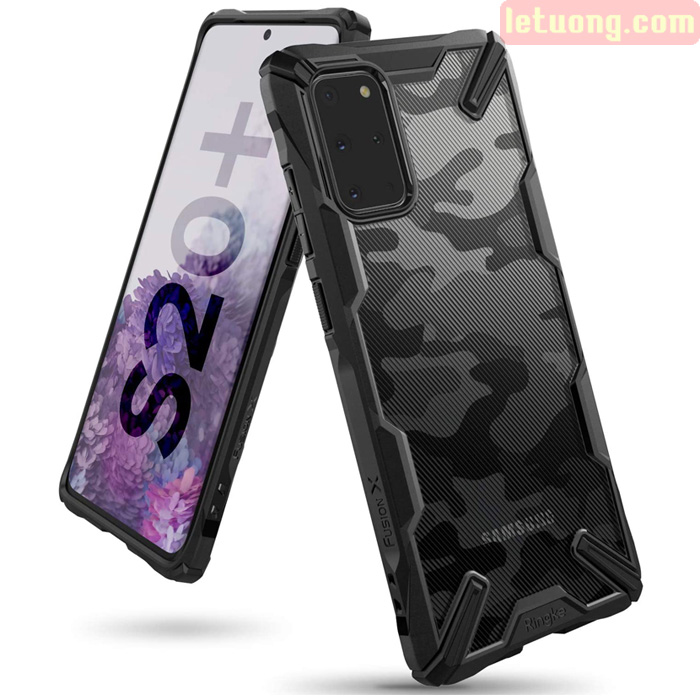 Ốp lưng Galaxy S20 Plus Ringke Fusion X Camo chống sốc - họa tiết quân đội ( từ USA )