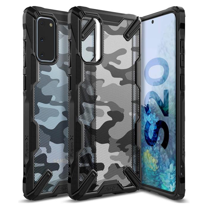 Ốp lưng Galaxy S20 Ringke Fusion X Camo chống sốc - họa tiết quân đội ( từ USA )