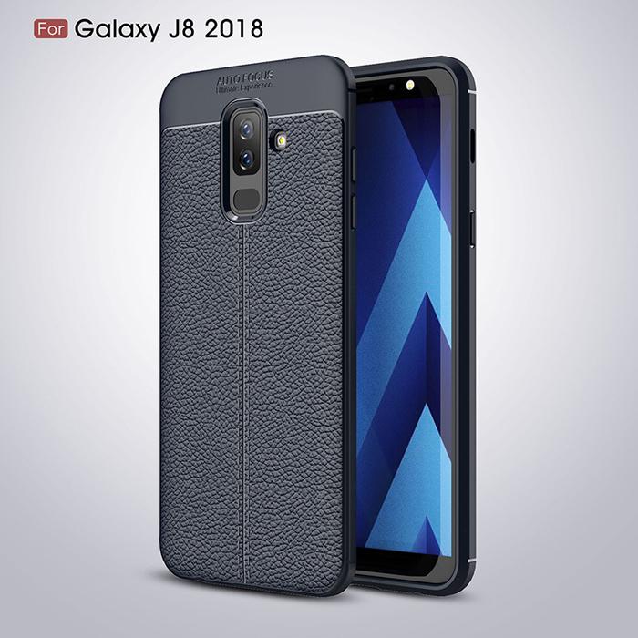 Ốp lưng Galaxy J8 2018 LT Leather Design Case vân da - sang trọng