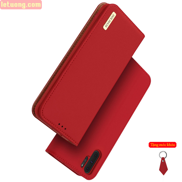 Bao da Galaxy Note 10 Plus Dux Ducis Wish Genuine Leather Vintage cổ điển