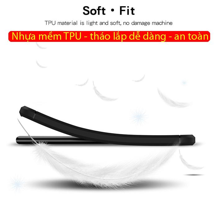 Ốp lưng Note 10 Plus Mofi Shen Du Carbon Fiber nhựa mềm - chống vân tay