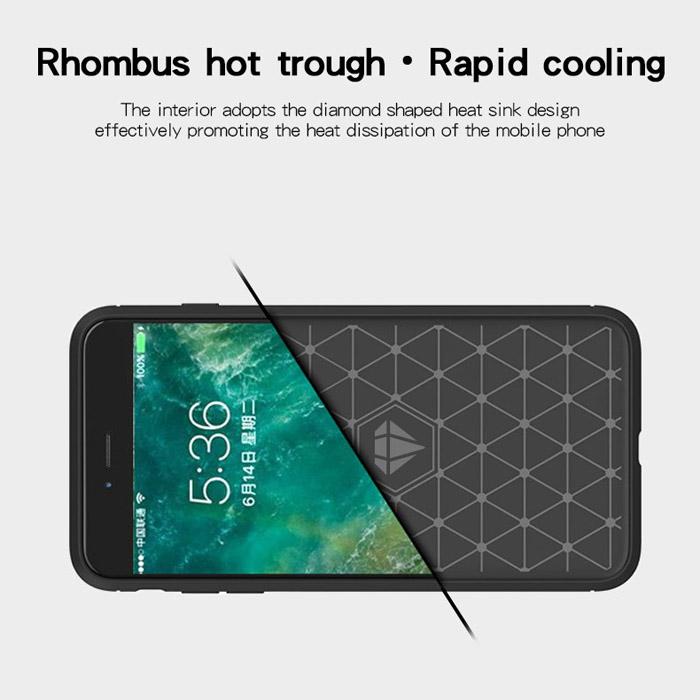 Ốp lưng Honor 8X Mofi Carbon Fiber nhựa mềm - chống vân tay