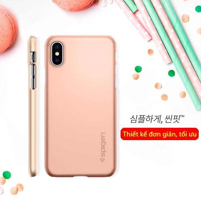 Ốp lưng Iphone X / Iphone 10 Spigen Thin Fit siêu nhẹ từ USA