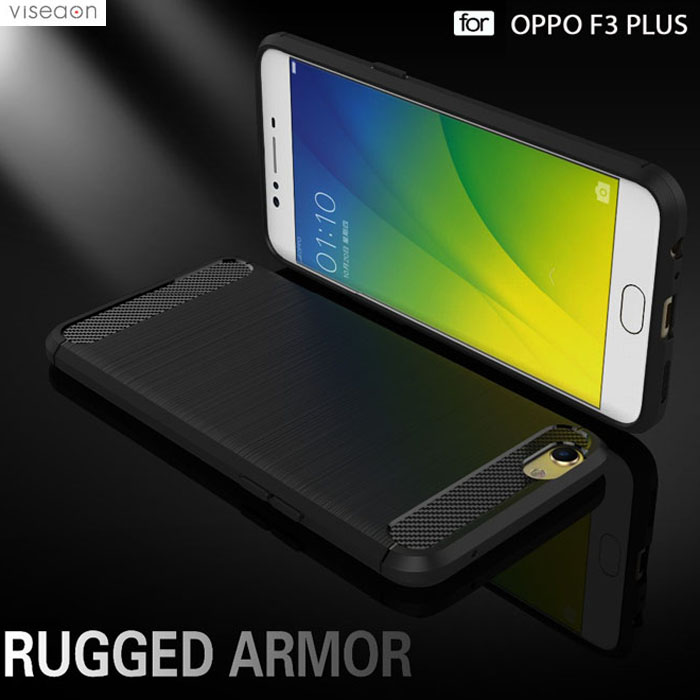 Ốp lưng Oppo F3 Plus Viseaon Rugged Armor Carbon nhựa mềm