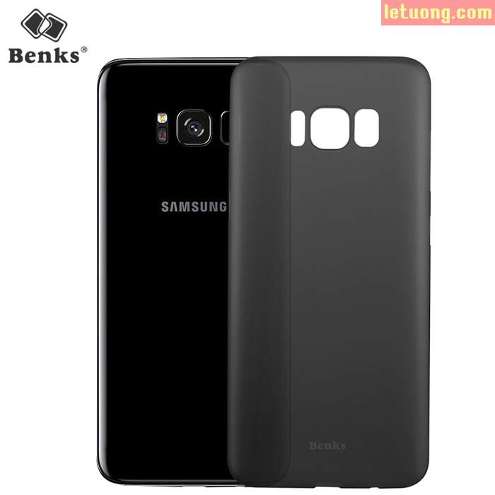 Ốp lưng Galaxy S8 Plus Benks Magic Lollipop 0,4mm, 4g tặng dán lưng Carbon