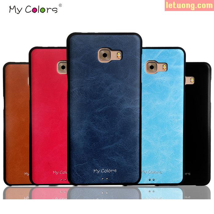 Ốp lưng Galaxy C9 Pro Mycolors TPU Leather lưng da sang trọng