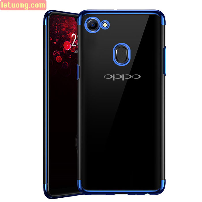 Ốp lưng Oppo F7 LT Glitter trong suốt viền mạ Crom sáng bóng