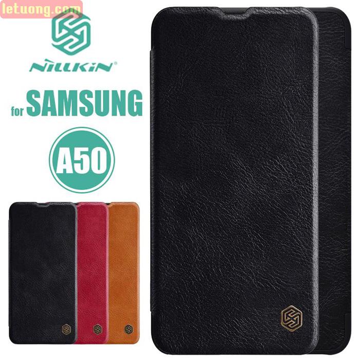 Bao da Galaxy A50 / A50s Nillkin Qin Leather sang trọng - cổ điển