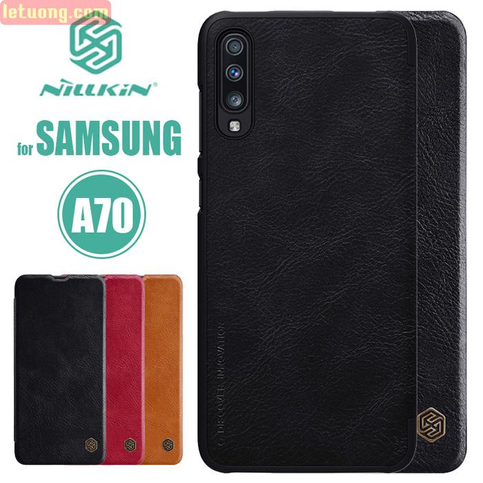 Bao da Galaxy A70 Nillkin Qin Leather sang trọng - cổ điển