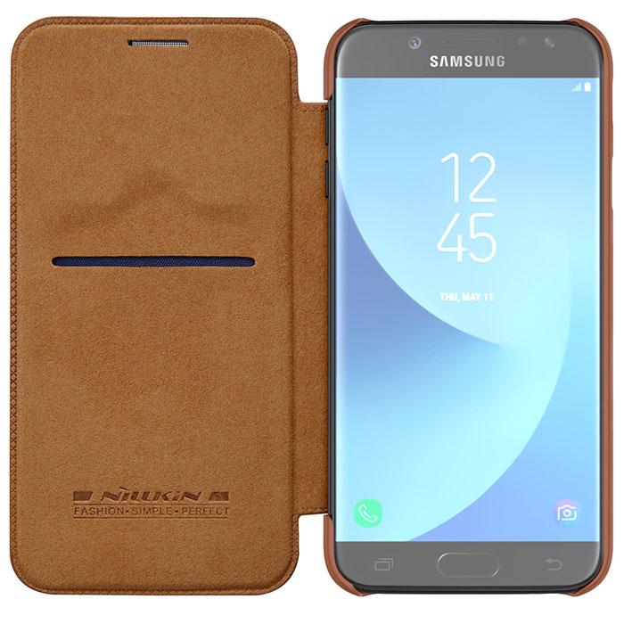 2e9a3230d ... Bao da Galaxy J7 Pro Nillkin Qin Leather sang trọng + Kính cường lực