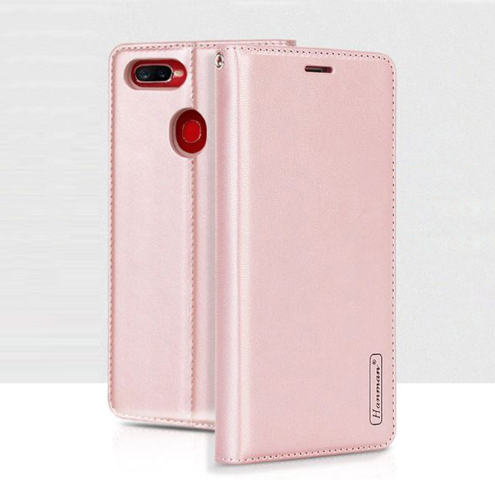 Bao da Oppo F9 Hanman Canvas Diary đa năng + dây đeo thời trang