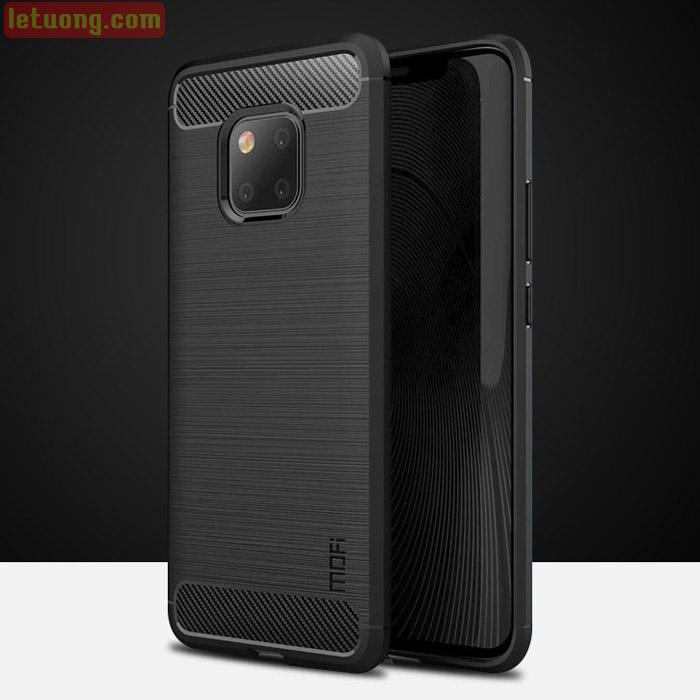 Ốp lưng Huawei Mate 20 Pro Mofi Shen Du Carbon nhựa mềm - chống vân tay