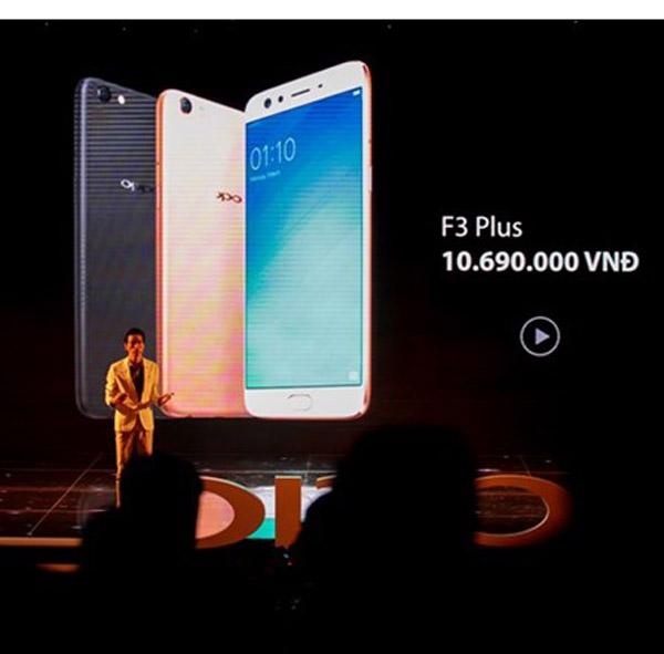 Oppo F3 Plus trình làng với giá 10,7 triệu đồng
