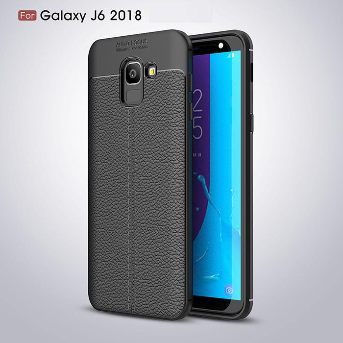 Ốp lưng Galaxy J6 2018 LT Leather Design Case vân da chống sốc