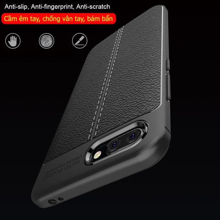 Ốp lưng Huawei Honor 10 LT Leather Design Case vân da - sang trọng