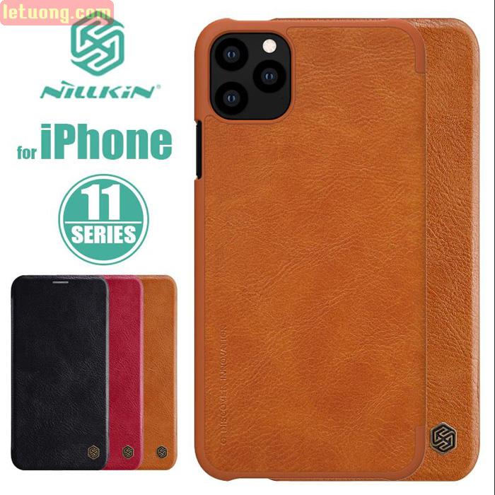 Bao da iPhone 11 Pro Max Nillkin Qin Leather sang trọng - cổ điển