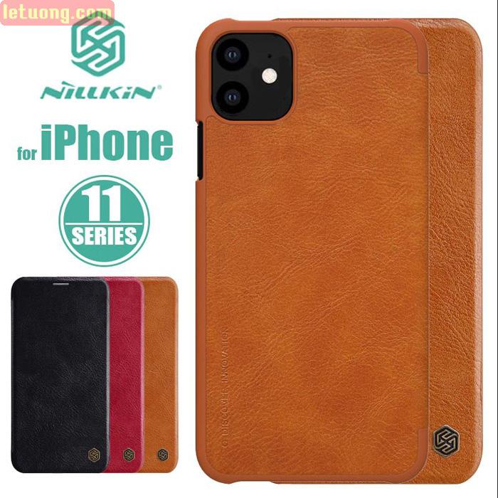 Bao da iPhone 11 Nillkin Qin Leather sang trọng - cổ điển