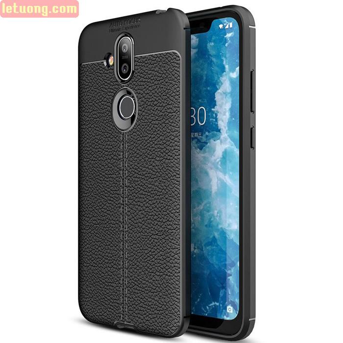 Ốp lưng Nokia X7 2018 LT Leather Design Case vân da - sang trọng