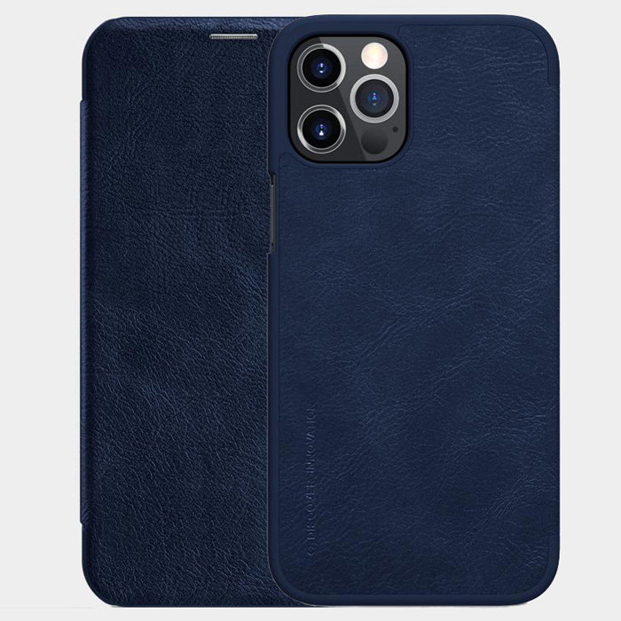 Bao da iPhone 12 Pro / 12 Nillkin Qin Leather sang trọng - cổ điển