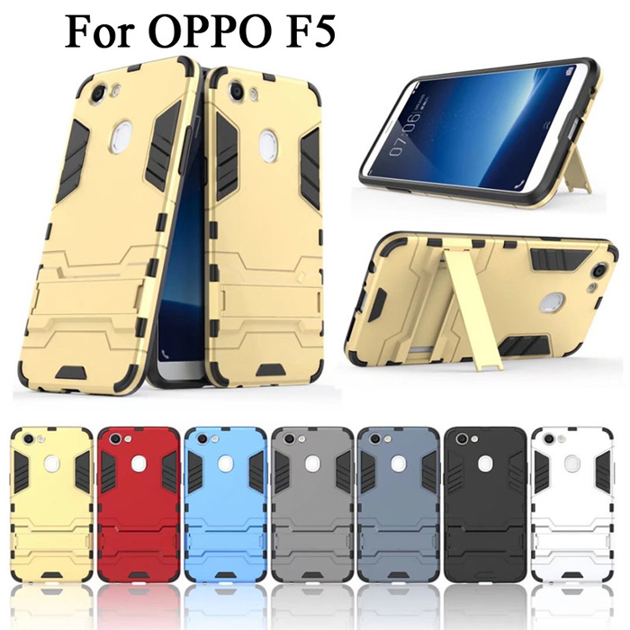 Ốp lưng Oppo F5 / F5 Youth LT Iron Man chống sốc, có chân chống