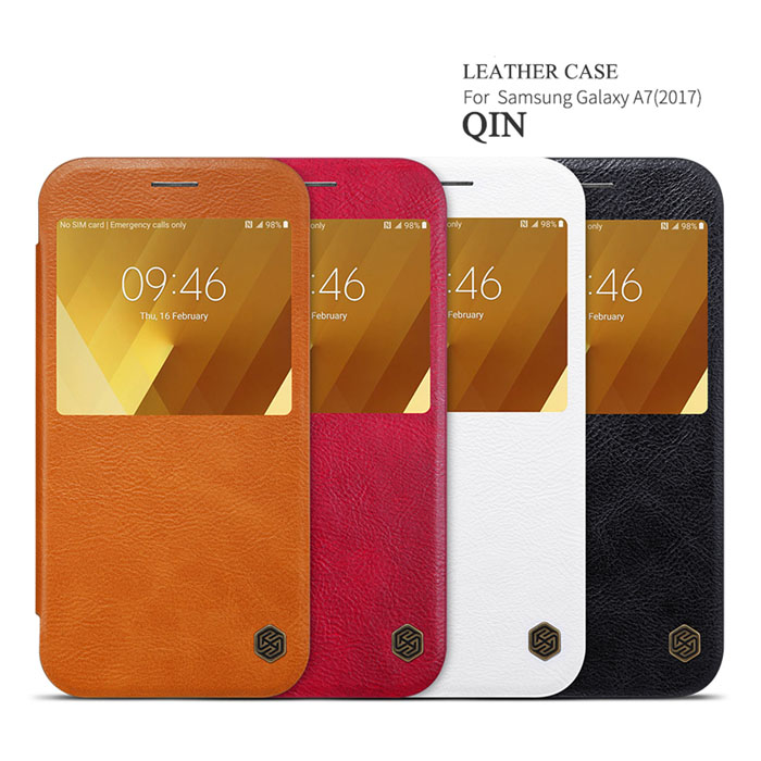 Bao da Galaxy A7 2017 Nillkin Qin View Leather sang trọng bền bỉ