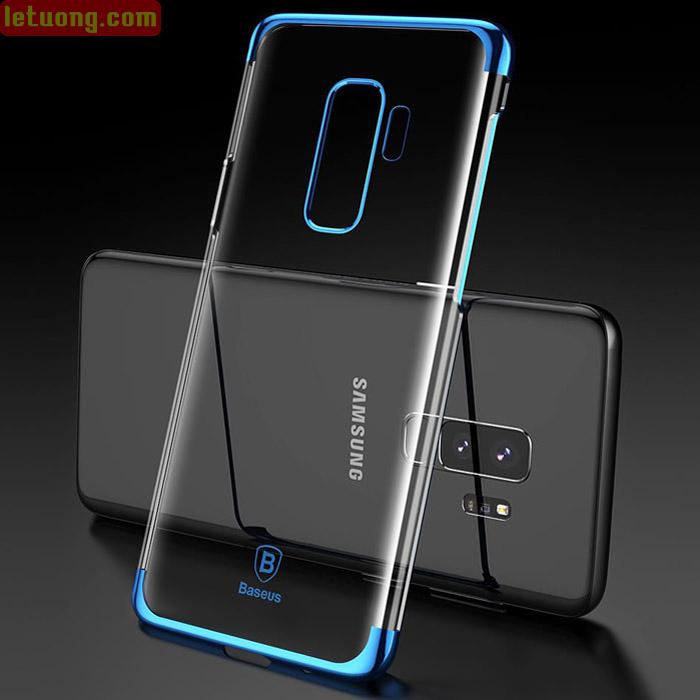 Ốp lưng Galaxy S9 Plus Baseus Glitter trong suốt viền crom sang trọng