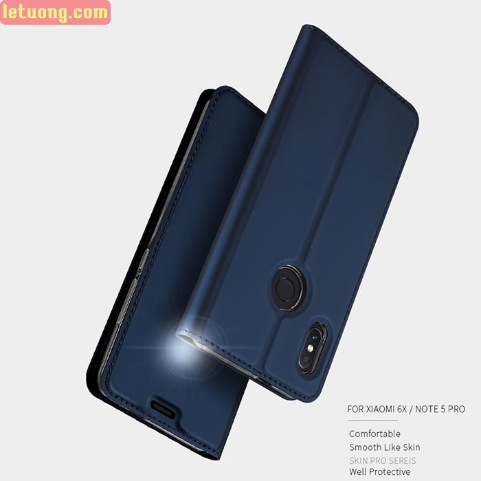 Bao da Xiaomi Redmi Note 5 . Note 5 Pro Dux Ducis Skin khung mềm - siêu mỏng
