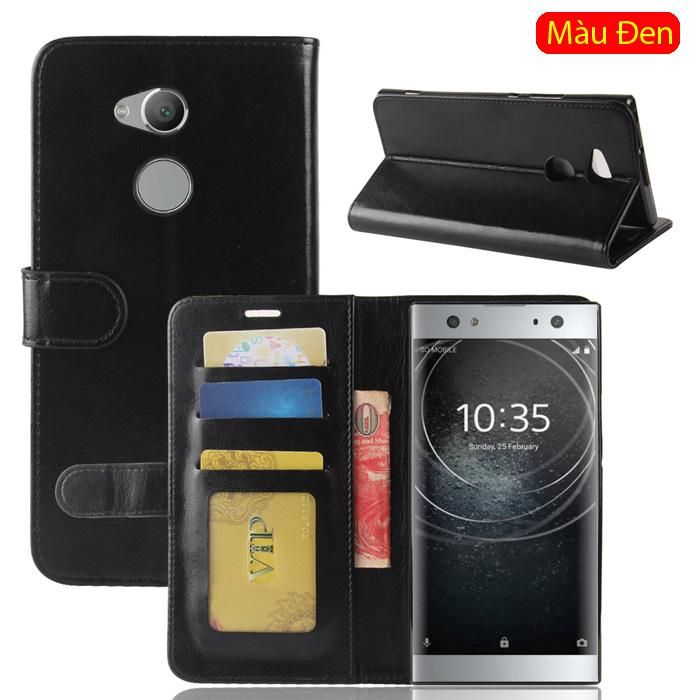 Bao da Sony XA2 Ultra LT Wallet Leather dạng ví đa năng - khung mềm