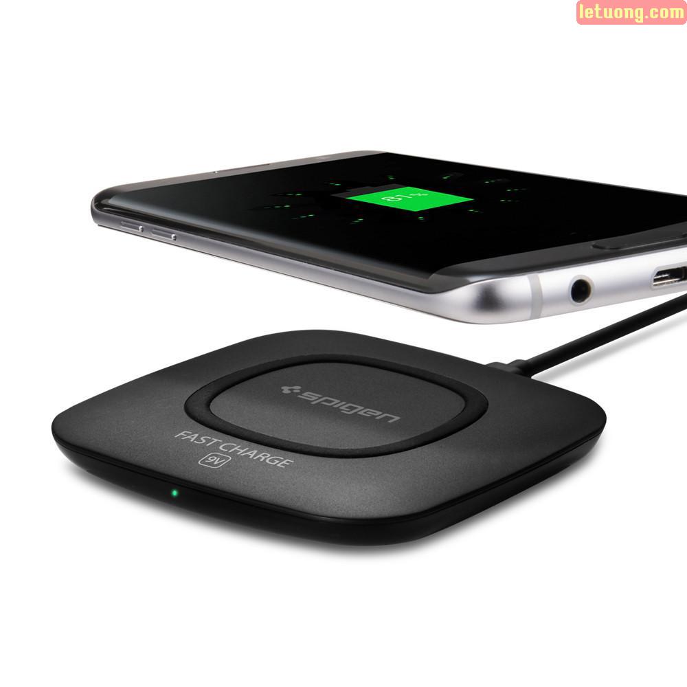 Đế sạc nhanh không dây Spigen Essential F301W Wireless Ultra Slim từ USA