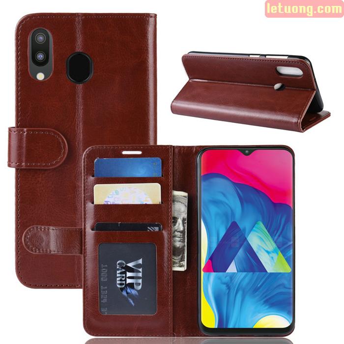 Bao da Galaxy M20 LT Wallet Leather dạng ví đa năng - khung mềm