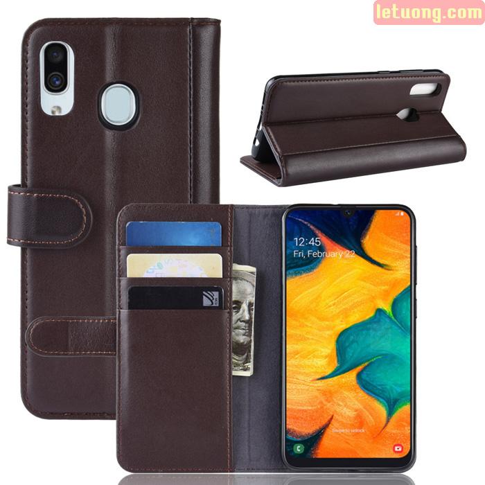 Bao da Galaxy A30 LT Wallet Leather dạng ví siêu bền - siêu êm