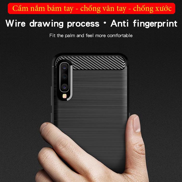 Ốp lưng Galaxy A50 Mofi Shen Du Carbon nhựa mềm - chống vân tay