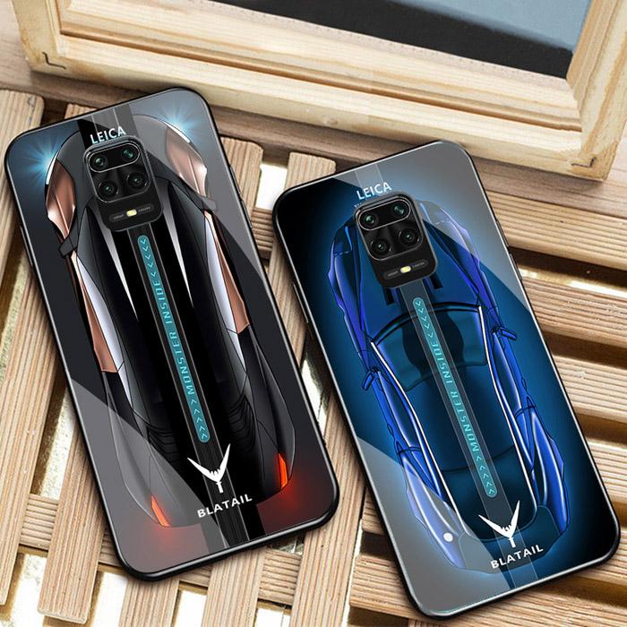 Ốp lưng Xiaomi Redmi Note 9S LT Blatail Glass Car 3D sang trọng - đẳng cấp