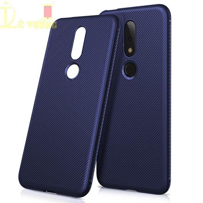 Ốp lưng Nokia X6 2018 / Nokia 6.1 Plus  LT Classic Twill nhựa mềm TPU - chống vân tay