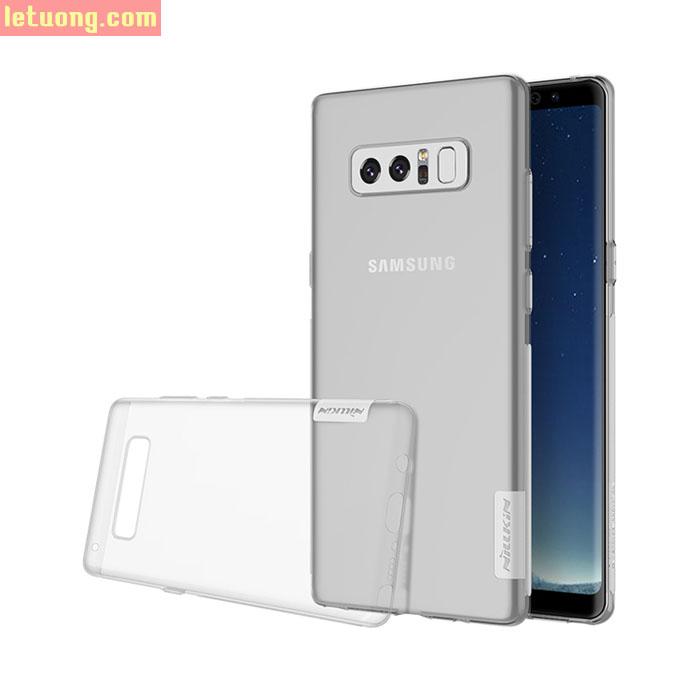 Ốp lưng Galaxy Note 8 Nillkin Nature TPU 0,6mm nhựa dẻo, trong suốt