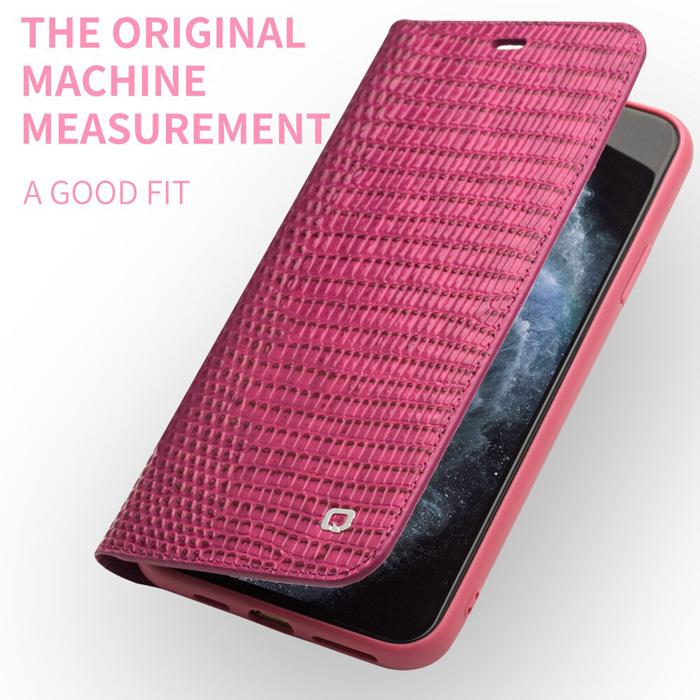 Bao da iPhone 11 Pro Qialino Crocodile Hanmade da thật