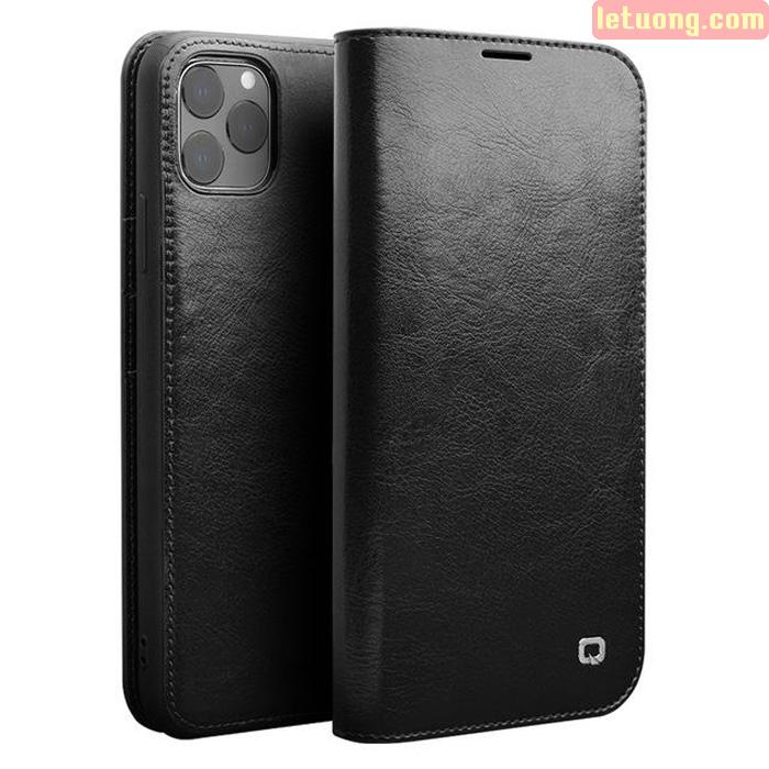 Bao da iPhone 11 Pro Max Qialino Classic Leather Hanmade da thật