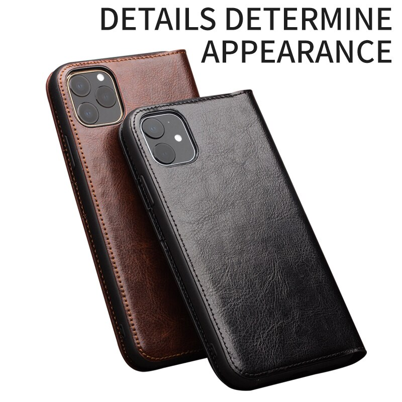 Bao da iPhone 11 Qialino Classic Leather Hanmade da thật