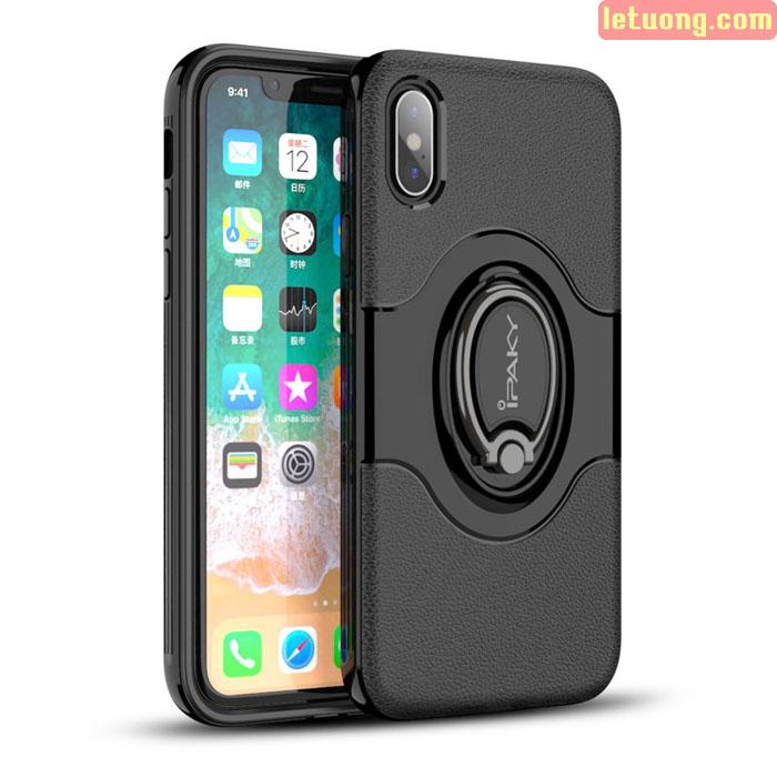 Ốp lưng iPhone X / Xs Ipaky Iring Holder 360 Car độc đáo, tiện lợi