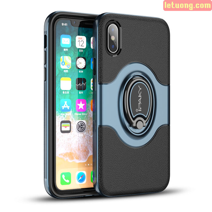 Ốp lưng Iphone X Ipaky Iring Holder 360 Car cực độc